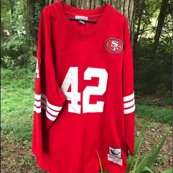 buy online 2e8e5 f4459 NFL SAN FRANCISCO 49ERS MITCHELL NESS RONNIE LOTT